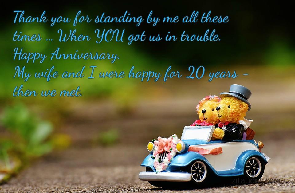 Funny wedding anniversary wishes have a great day