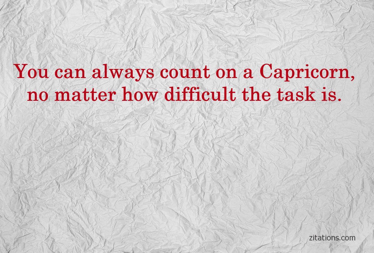 capricorn quotes - reliable