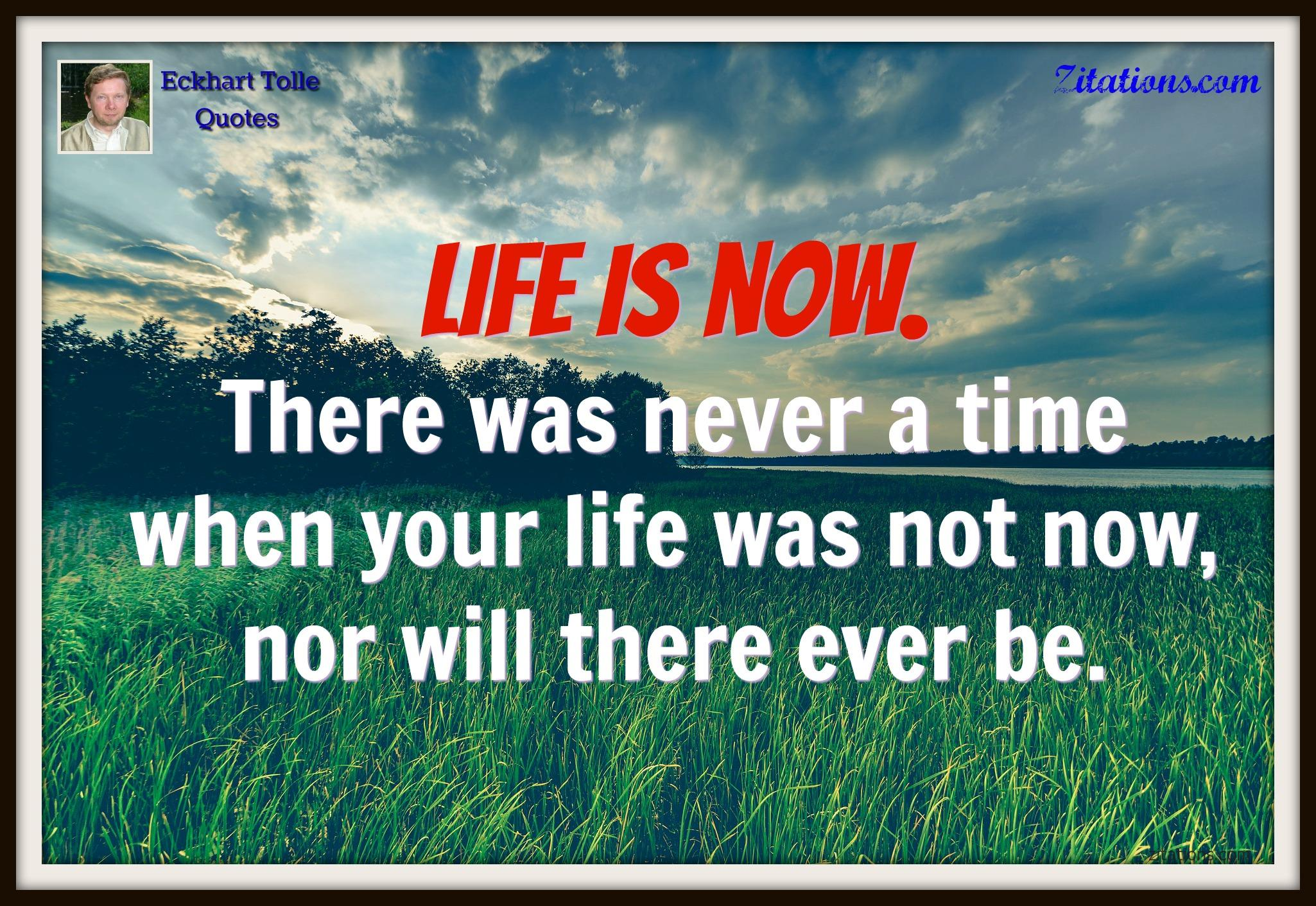 live life in the moment quotes - Eckhart Tolle Quotes