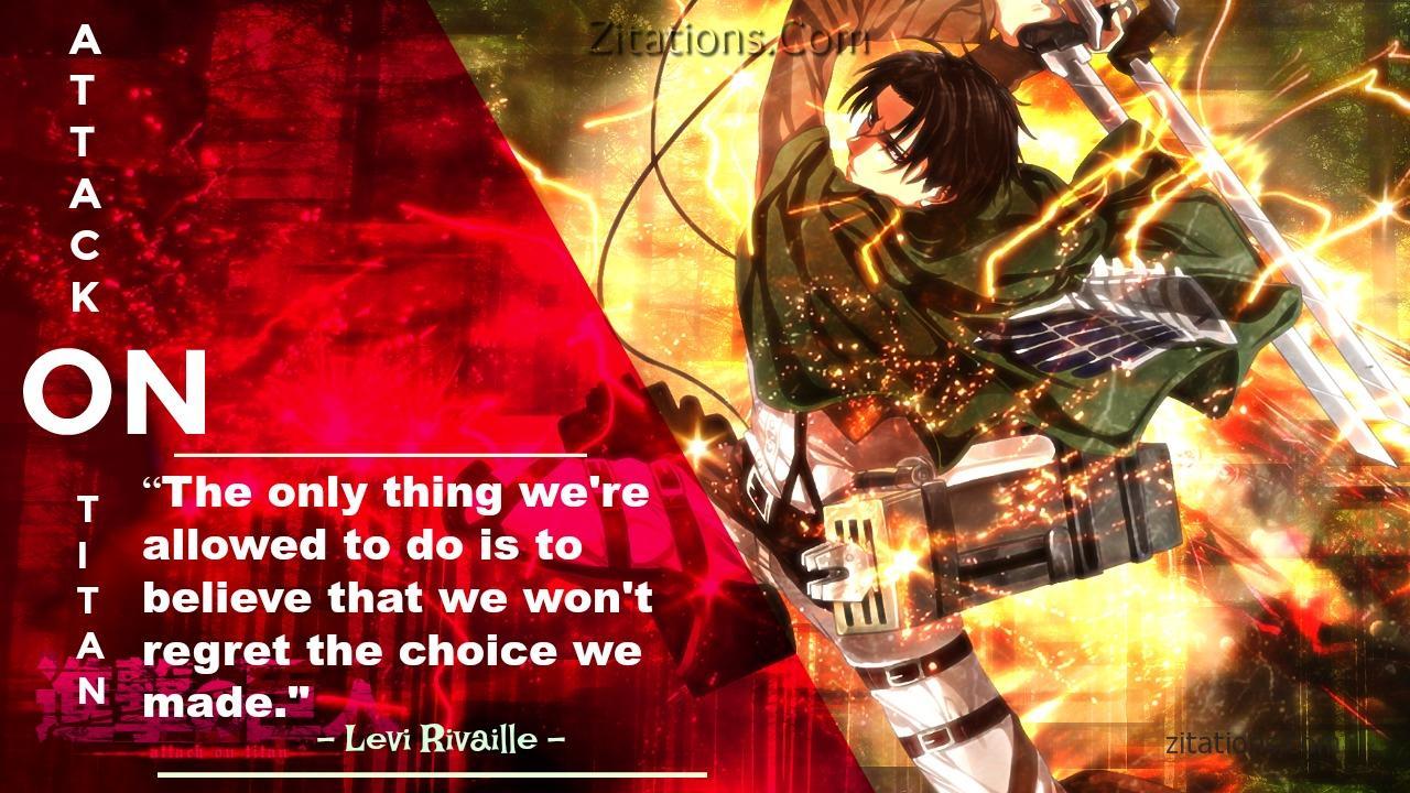 Attack On Titan Quotes - Levi