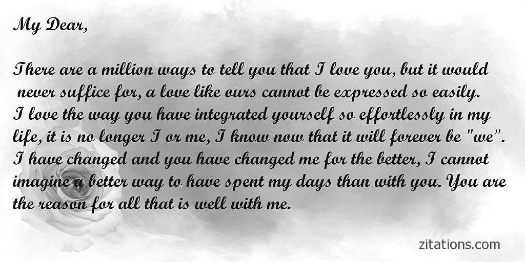 Love Letters for him from the heart Zitations